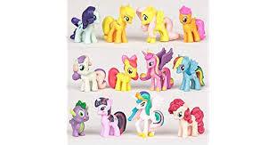 <b>12PCS</b>/<b>SET</b> PVC <b>Cute</b> Horse Action figures Toy doll Earth Ponies ...