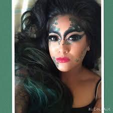 poison ivy makeup tutorial green makeup