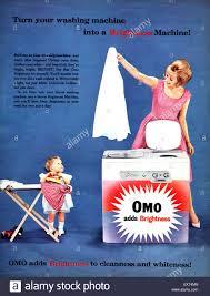 washing powder advert stock photos washing powder advert stock 1950s uk omo washing powder magazine advert stock image