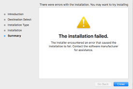 creative cloud package installation failed error message