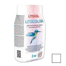 Litokol Litocolor, 2 кг, белый L.00 <b>цементная затирка</b> для <b>швов</b> ...