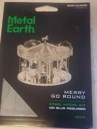 Merry Go <b>Round</b> Carousel <b>3D</b> Metal nano puzzle kit Laser Cut ...