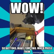 wow! so buttons. many tempting. much press them - doge | Meme ... via Relatably.com