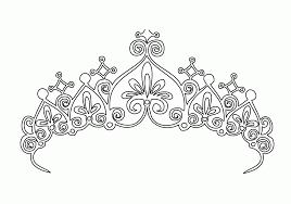 Small Picture Princess Tiara Coloring Page Coloring Home