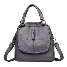 junkai <b>Women's</b> Multi-function backpack bag <b>retro PU leather</b> ...