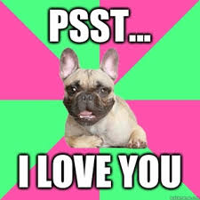 psst-i-love-you-french-bulldog | Humor Hound via Relatably.com