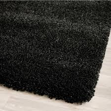 safavieh california shag black rectangular indoor machine made area rug common 8 x california shag black 4 ft