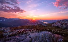 Image result for mountain sunset