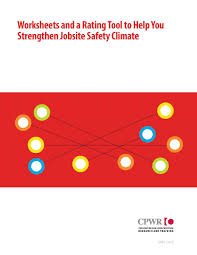 strengthening jobsite safety climate by using and improving strengthening jobsite safety climate by using and improving leading indicators