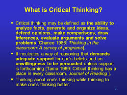 Beyond Critical Thinking   The Chronicle of Higher Education  cmedia ca