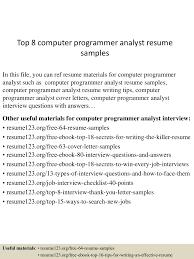 top8computerprogrammeranalystresumesamples 150527131009 lva1 app6891 thumbnail 4 jpg cb 1432732266