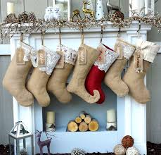 decor linen fabric multiuse: burlap lace linen christmas stockings country primitive rustic decor personalized christmas stocking embroidered burlaps fabric name tags