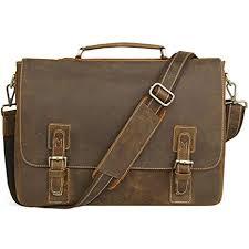 Jack&Chris men's Genuine Leather Briefcase 16 ... - Amazon.com