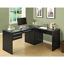 bureau en gros monarch specialties connect it executive l shaped workstation cappuccino bathroomoutstanding black staples office furniture lshaped