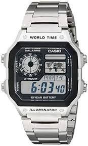 <b>Casio</b> Men's AE1200WHD-1A Stainless Steel Digital <b>Watch</b>: <b>Casio</b> ...