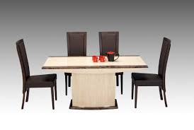 Marble Dining Room Sets Glacier Extending Contemporary White Marble Dining Table Only