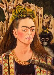 Self-Portrait with <b>Monkey</b>, 1945 — Google Arts & Culture