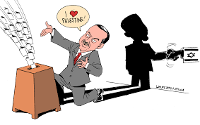 Image result for ERDOGAN AND ISRAELI LEADER CARTOON