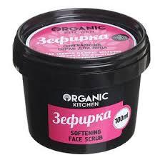 <b>Скраб для лица</b> Organic Kitchen «Зефирка», <b>смягчающий</b>, 100 мл ...