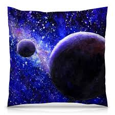 <b>Подушка</b> 40×40 см с полной запечаткой Космос планеты #2377113