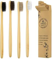 <b>Bamboo</b> Toothbrushes | Family <b>4 Pack</b> | Eco-Friendly & Natural ...