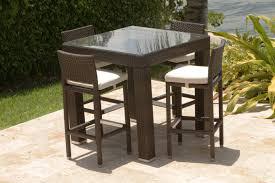 source outdoor zen 4 seat bar set brown set patio source outdoor