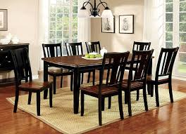 transitional dining chair sch: amazoncom furniture of america macchio  piece transitional dining set cherry black kitchen amp dining