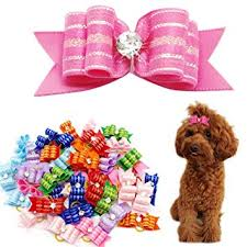 Didog Colorful Multi-pattern Pet Cat Dog Hair Bows ... - Amazon.com