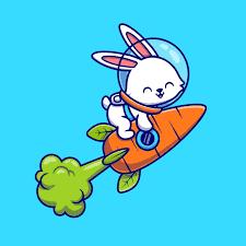 Free Vector   <b>Cute rabbit</b> astronaut flying with carrot rocket cartoon ...