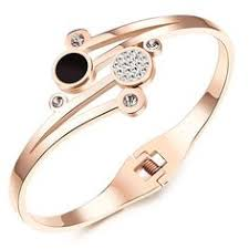 OPK Jewellry Rose Gold <b>Maneki Neko Womens Bracelet Lucky Cat</b> ...