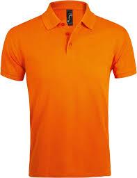 <b>Рубашка поло</b> мужская <b>PRIME MEN</b> 200 оранжевая