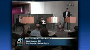 jefferson hamilton debate stimulate economy video c span org