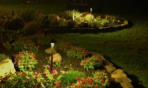down lighting bed of flowers area lighting flower bed