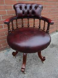 antique walnut leather swivel desk chair office chair antique leather swivel desk chair