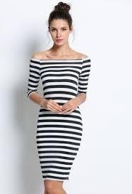 Off the shoulder <b>stripe</b> flattering <b>bodycon</b> dress, <b>hot</b> for <b>spring</b> 2017 ...