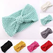 <b>Cute</b> Kids Girl Baby Toddler Crochet <b>Bow Headband Hair</b> Band ...