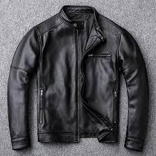 Classic casual style, <b>Plus size</b> cowhide Jacket, men slim 100 ...