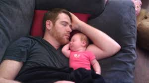 Father and Baby Napping