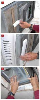 roof repair place:  when installing the new air conditioner gasket peel the tape backing