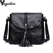 <b>Hot Sale</b> Soft Leather Women <b>Bag</b> Metal Tassel Decor Handbags ...