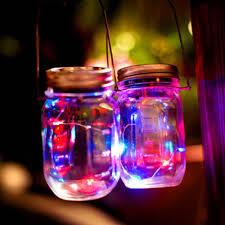 <b>1M</b>/<b>2M LED</b> Fairy Light Solar <b>Mason Jar</b> Lid Lights Color Changing ...