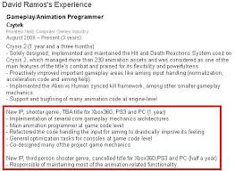 resume third person reflective essay writing examples rubric  crytek cancels unannounced shooter working on new fps ip