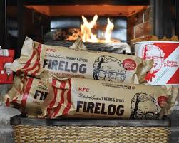 Science and KFC have blessed us with a firelog that smells like fried ...