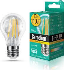 <b>Лампочка Camelion</b> 13716, Теплый свет, <b>E27</b>, 13 Вт, Светодиодная