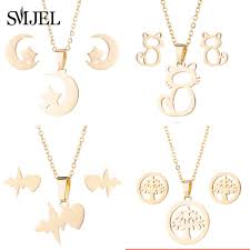 Smjel Gold Color <b>Palm Tree</b> Necklace Women <b>Boho</b> Jewelry ...