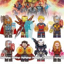 <b>8pcs</b>/<b>set Marvel Avengers</b> Minifigures Ironman Iron Man <b>Captain</b> ...