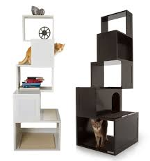 view in gallery modern cat trees in black and white cat modern furniture
