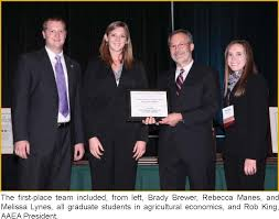 Landscaping Lead Generation   Case Study   Justin Hess   LinkedIn Agricultural   Applied Economics Association     Graduate Student Extension Competition and the team of Michelle Estes  Steven Ramsey  and Emily Mollohan  won the AAEA Graduate Case Study Competition