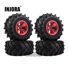 <b>4PCS RC</b> Monster Truck Wheel Rim <b>Tires</b> Kit for 1:10 Traxxas ...
