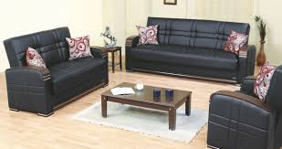 Of Living Rooms With Black Leather Furniture Bronx Black Leather Sofa Bed By Empire Furniture Usa